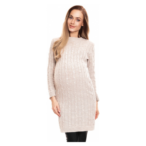 Svetlohnedé tehotenské šaty 40026 PeeKaBoo