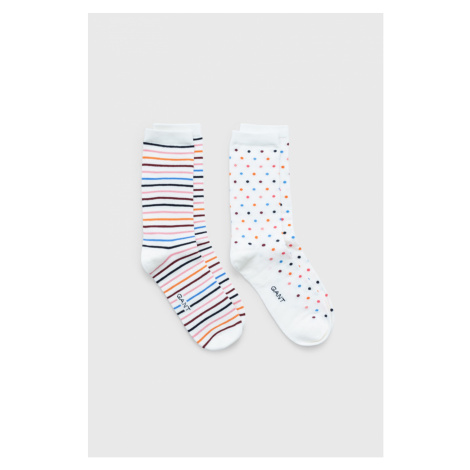 PONOŽKY GANT D1. DOT AND STRIPE SOCK GIFT BOX