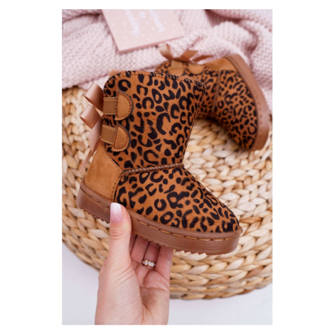 Children's Snow Boots With Fur Leopard Fiona