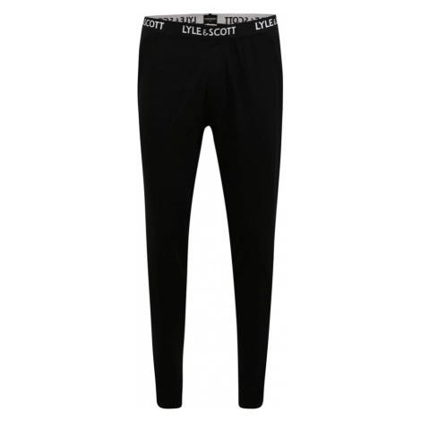 Lyle & Scott Pyžamové nohavice 'EZRA'  čierna / biela