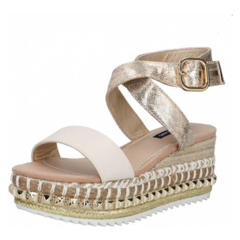 River Island Remienkové sandále  béžová / zlatá