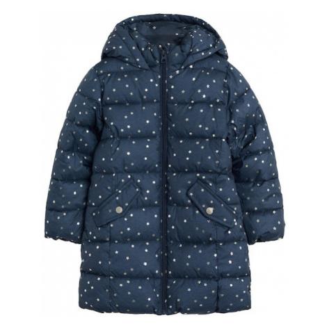 MANGO KIDS Prechodná bunda  modrá / biela