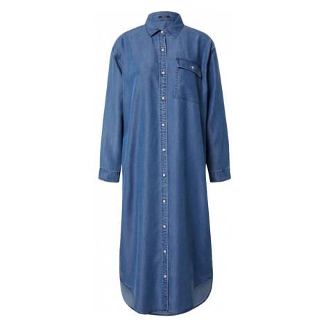 DENHAM Košeľové šaty  modrá