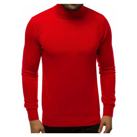 Pohodlný sveter v tmavo červenej farbe TMK/YY02/6