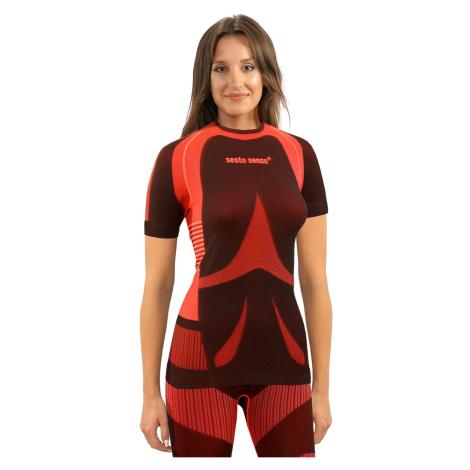 Sesto Senso Woman Short Sleeves Shirt Coral