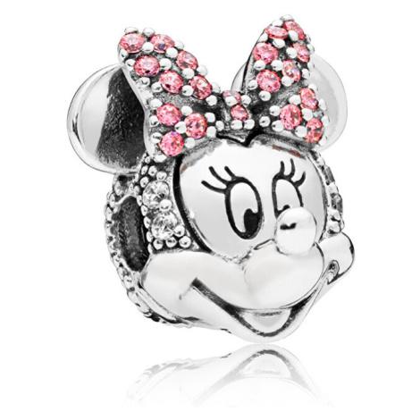 Pandora Trblietavý strieborný klip Disney Minnie 797496CZS