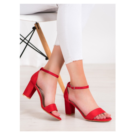ANESIA PARIS HEELED SANDALS shades of red