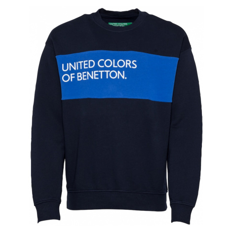 UNITED COLORS OF BENETTON Mikina  biela / modrá / námornícka modrá