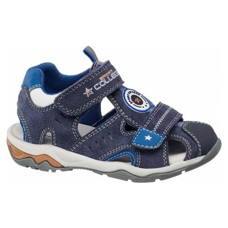 Bobbi-Shoes - Chlapčenské semišové sandále s uzavretou špičkou