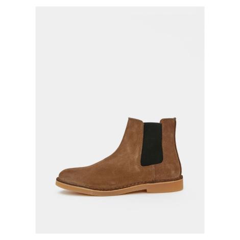 Selected Homme hnedé pánske chelsea topánky Royce
