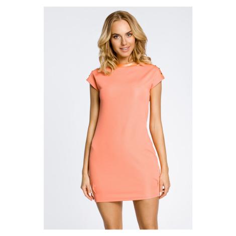 Koralové šaty MOE 028