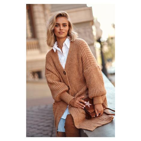 Hnedý sveter S101 Makadamia