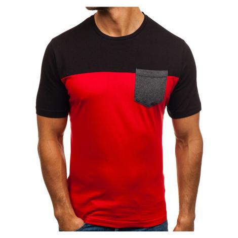 Červené pánske tričko s potlačou BOLF 6309 RIPRO