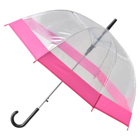 Semiline Unisex's Long Transparent Auto Open Umbrella 2507-5