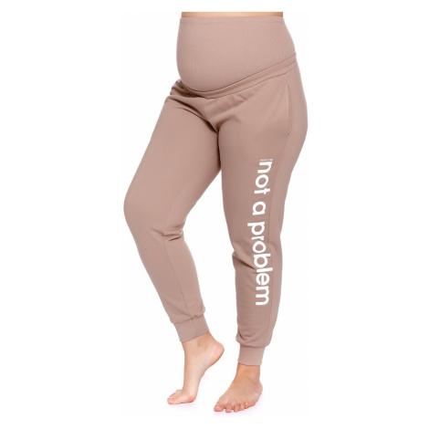 Tehotenské nohavice Nap béžová