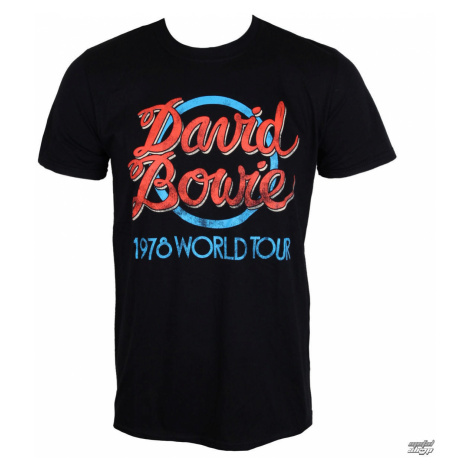 Tričko metal ROCK OFF David Bowie 1978 World Tour Čierna