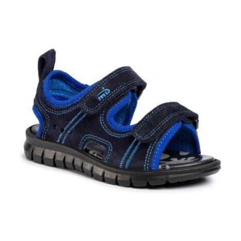 Sandále MB 3MX2/1-28POIR Prírodná koža(useň) - Zamš