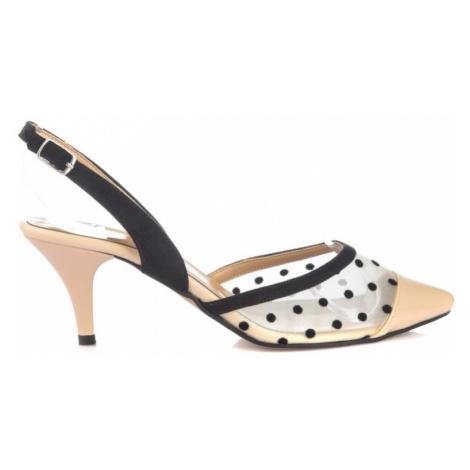 Trendyol Beige Transparent Women's Classic Heels