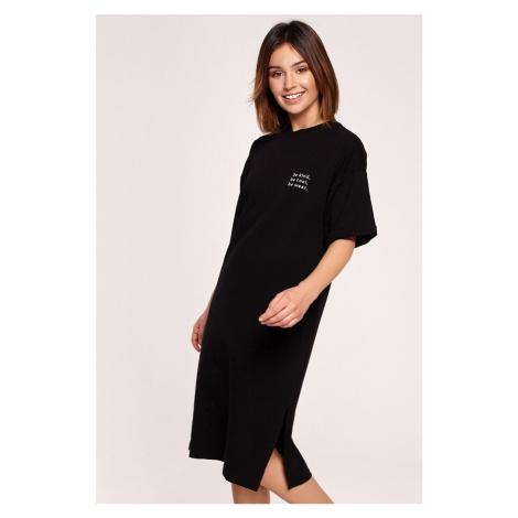 Čierne tričkové midi šaty B194