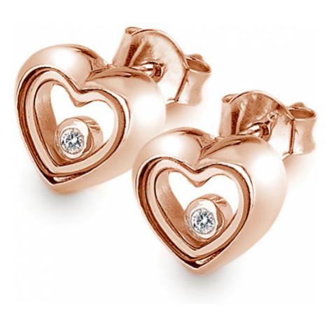 Hot Diamonds Ružovo pozlátené náušnice Anais AE014