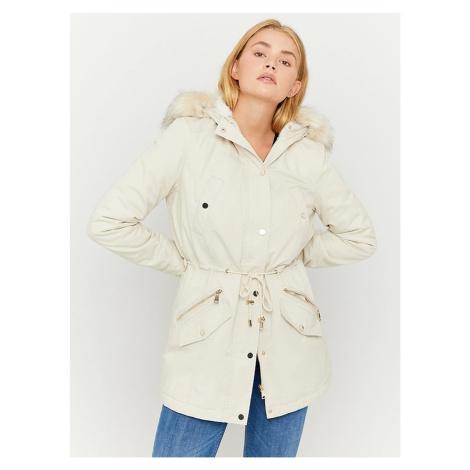 Zimné bundy pre ženy TALLY WEiJL - krémová