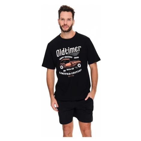 Pánske pyžamo Oldtimer čierne
