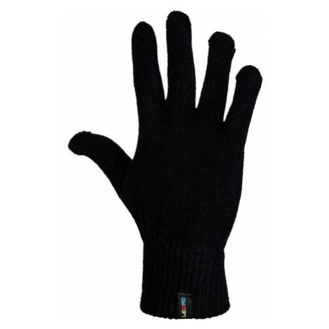 Lewro NEELAM čierna - Detské pletené rukavice