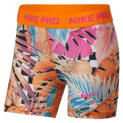 Nike NP SHORT BOY AOP1 oranžová - Dievčenské športové šortky