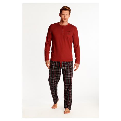 Pánske pyžamo Henderson 38360 ZETA Červená