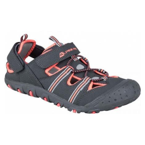 ALPINE PRO BELLEVO sivá - Detská letná obuv