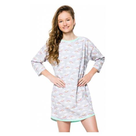 Dievčenská nočná košeľa Molly šedá Taro