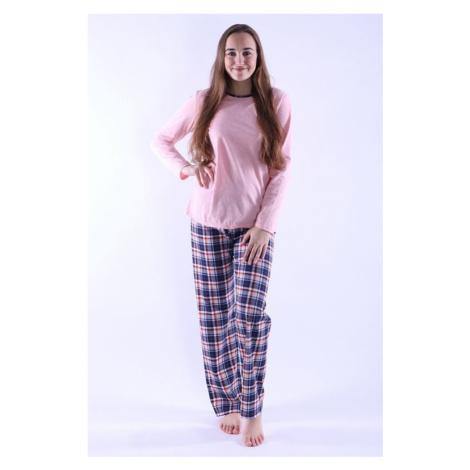 Dámske pyžamo Erika 2 ružové káro Nelly