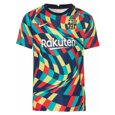 NIKE Funkčné tričko 'FC Barcelona'  tyrkysová / námornícka modrá / červená / zlatá žltá / biela