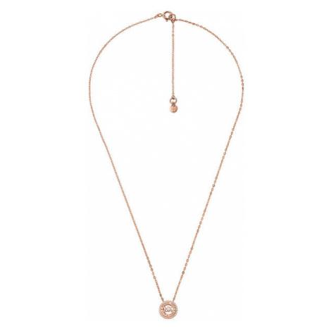 Michael Kors Trblietavý bronzový náhrdelník so zirkónmi MKC1388AN791