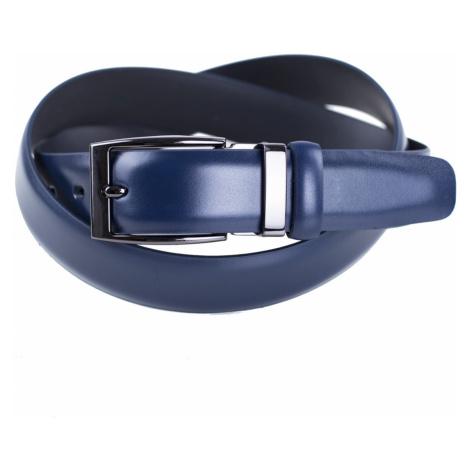 Pánsky kožený opasok Satyr tmavo modrý cm