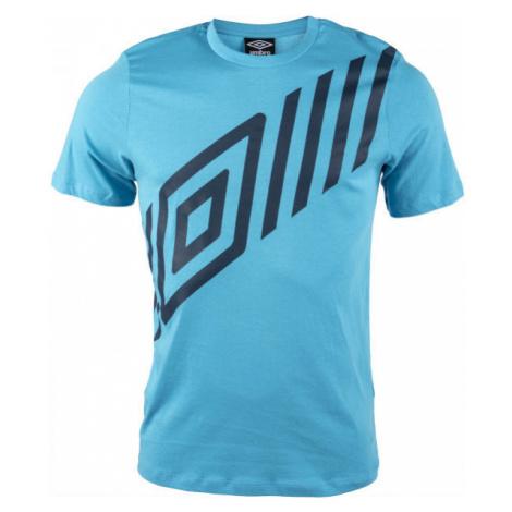 Umbro FW GRAPHIC TEE 1 modrá - Pánske tričko