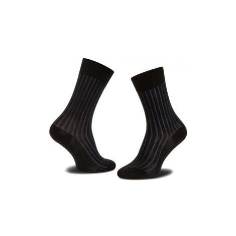 Joop! Vysoké pánske ponožky Socke Two Tone Ler_1 900.026_1 Čierna