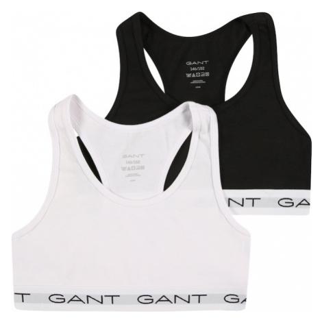 GANT Podprsenka  čierna / biela / sivá