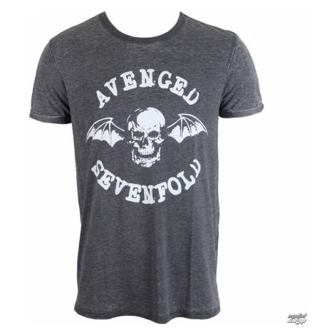 Tričko metal ROCK OFF Avenged Sevenfold Deathbat Čierna sivá