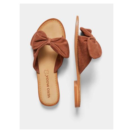 Hnedé semišové papuče VERO MODA Melanie