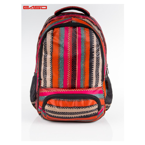 School backpack with ethnic patterns