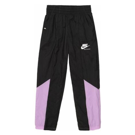 Nike Sportswear Nohavice  biela / čierna / fialová