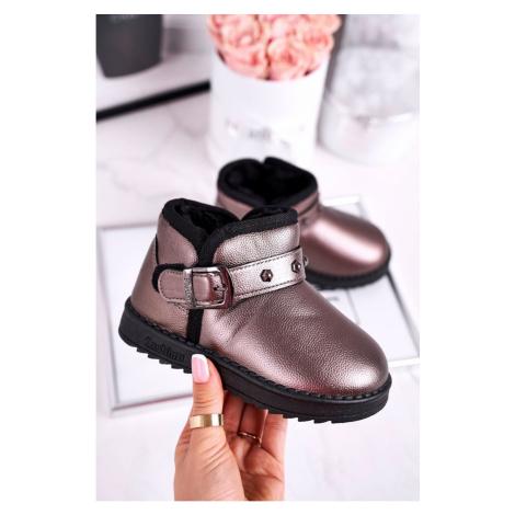 Children's snow boots warm with fur grey Jinnie