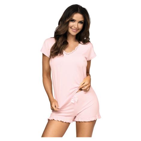 Dámske pyžamo Donna Agnes SS Pink Růžová