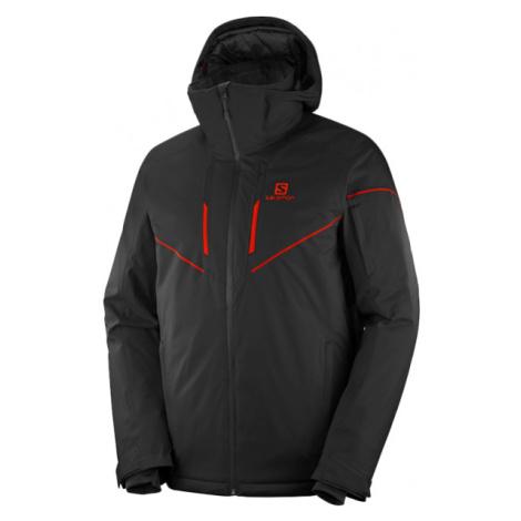 Salomon STORMRACE JKT M čierna - Pánska lyžiarska bunda