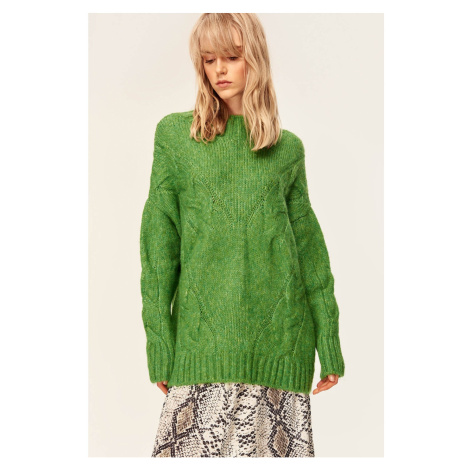 Trendyol Green Knit Detail Sweater Sweaters