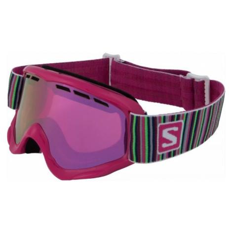 Salomon JUKE ružová - Dievčenské lyžiarske okuliare