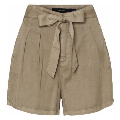 VERO MODA Plisované nohavice 'Mia'  svetlohnedá