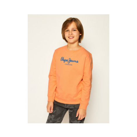 Pepe Jeans Mikina Cameron PB581223 Oranžová Regular Fit