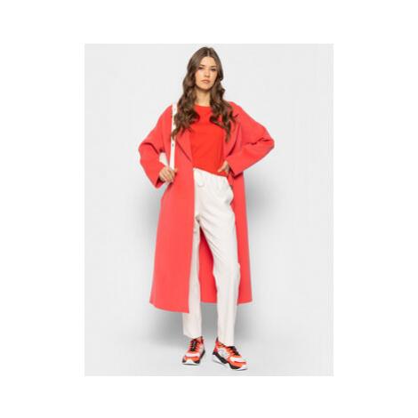 Laurèl Prechodný kabát 91002 Ružová Regular Fit Laurel